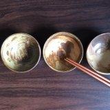 粉引灰釉豆鉢