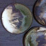 粉引灰釉丸皿 21cm
