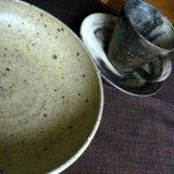 霜降釉多用鉢